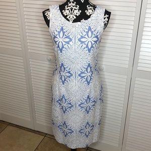 Talbots Floral Sleeveless Sheath Dress Size 6